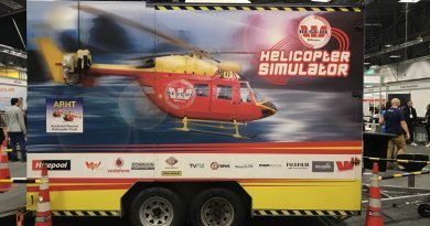 Helicopter flight simulator a hit at Westpac Rescue's stand at AKL Build 2018